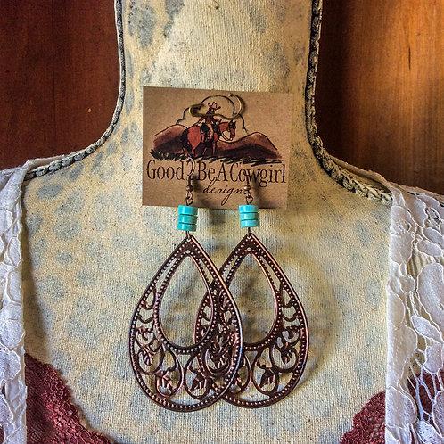 Cowgirl Filigree Earrings~ Desert Darling