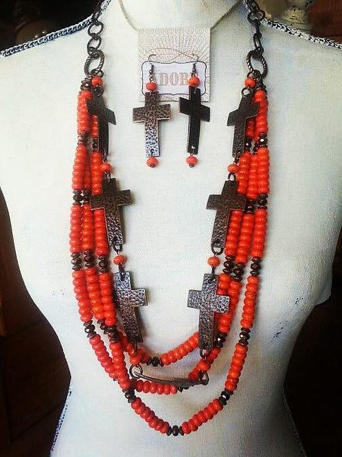 Cowgirl Statement Necklace Set~ Las Cruces De Sedona