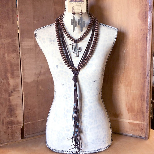 Cowgirl Pearls Statement Necklace Set~ Cactus Cassie