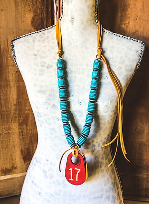 Cowgirl Statement Necklace~ Lucky number 17