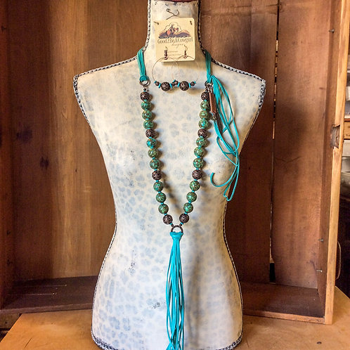 Cowgirl Statement Necklace Set~ Saved By Grace