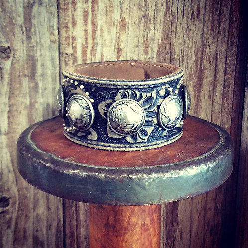 Cowgirl Leather Cuff~ The Way of The Buffalo