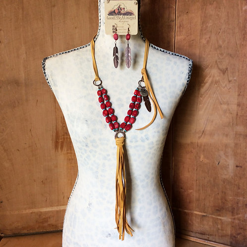 Cowgirl Statement Necklace Set~ Lucky Star