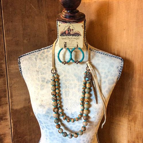 Cowgirl Statement Necklace Set~ Mesa