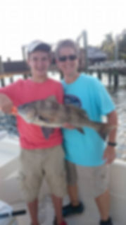 black drum, charter fishing in tampabay, st.pete fishng chrters