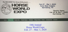 Horse World Expo 2020 dates-come volunteer to man the booth!