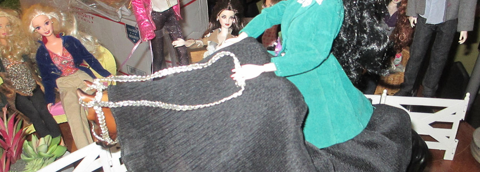 Jumping Diorama with Other Dolls looking