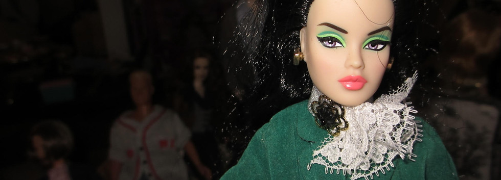 Green Jacket for lovely rider to match her green eyeshadow