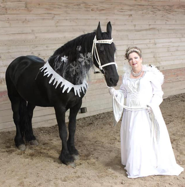 Marybeth Walker's Snow Queen and her Steed Bethje costume