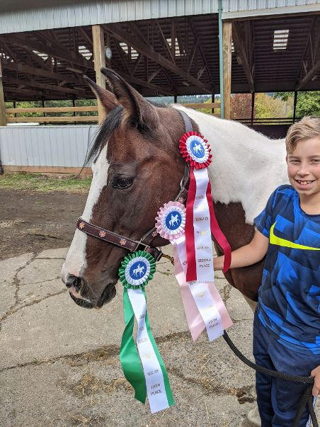 Aidan and Spirit with their August ISSO