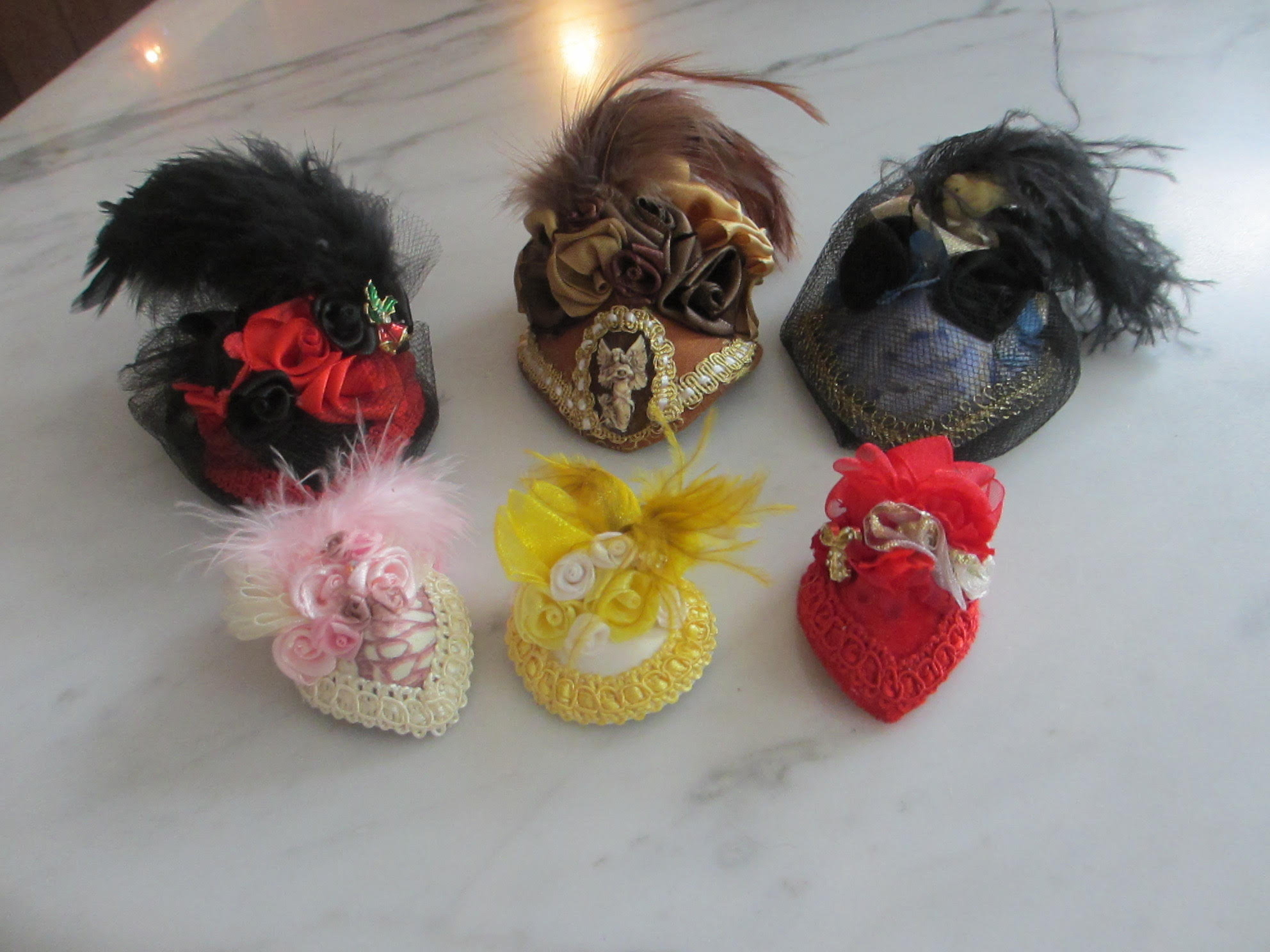 Examples of Peggy Feltrope Doll Hats