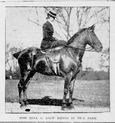 Miss Edna G Loew Riding in the Park.jpg