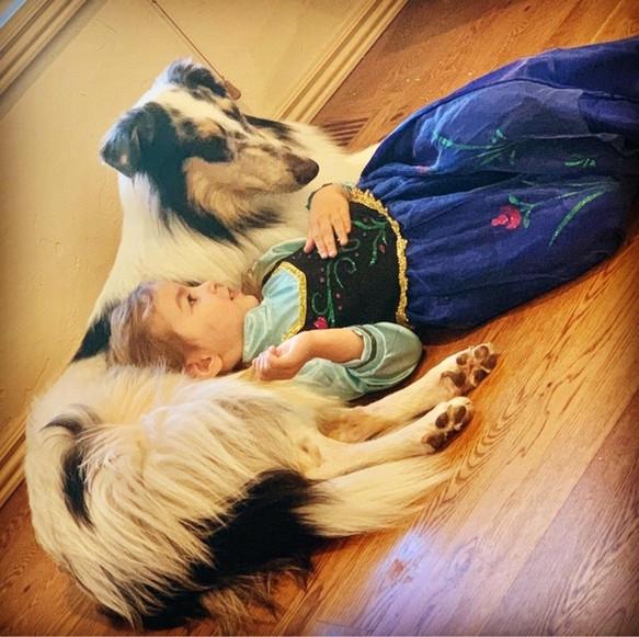 Savannah Grace with her dog