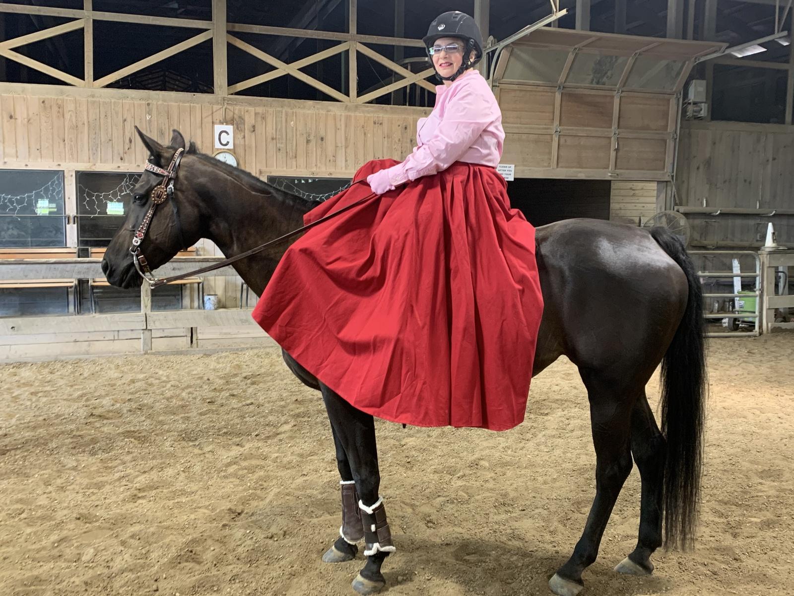 Beauty under saddle post surgery