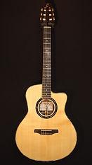 guitare acoustique folk luthier palissandre indien nacre paua corde nylon