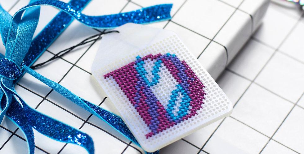 PRE-ORDER: Gift Tag - Acrylic Stitchable Christmas Gift Tag