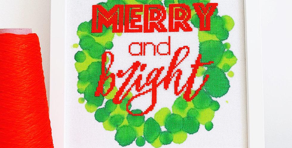 Merry & Bright - Modern Christmas Cross Stitch Kit