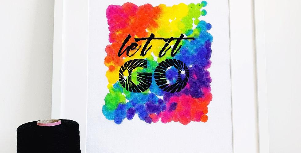 Let it go - Modern Cross Stitch Kit