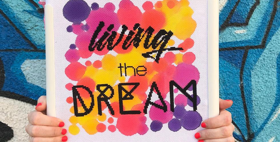 Living the Dream - Modern Cross Stitch Kit