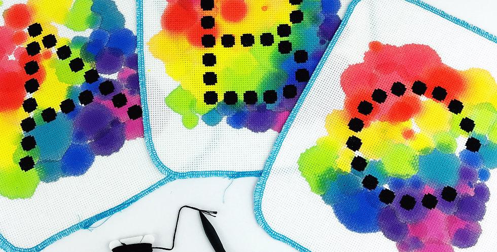 Dotty Letters - Modern Cross Stitch Mini Kit
