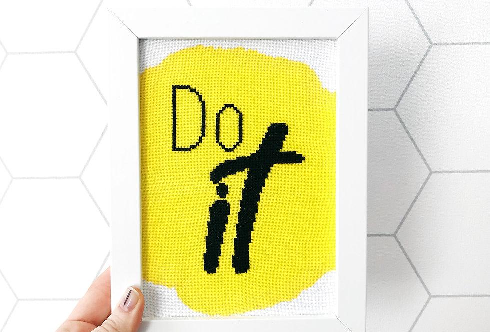 Do It - Mini Modern Cross Stitch Kit