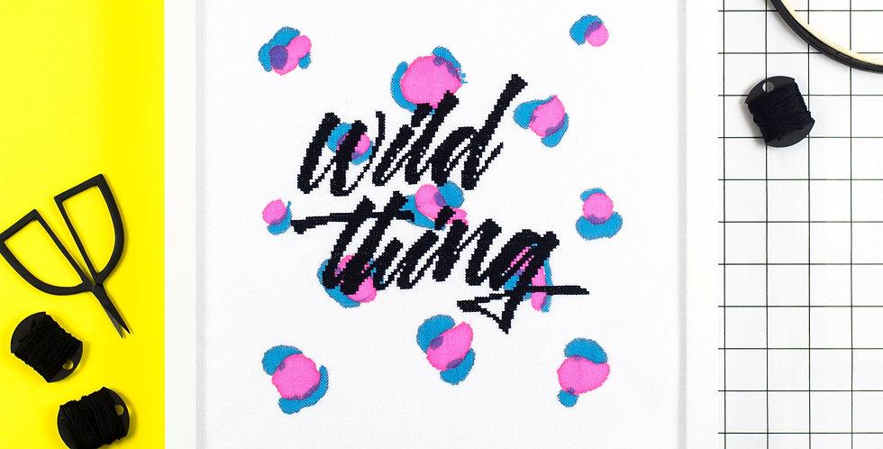 Wild Thing - Modern Cross Stitch Kit