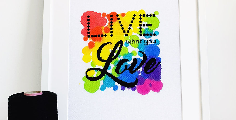 Live What You Love - Modern Cross Stitch Kit