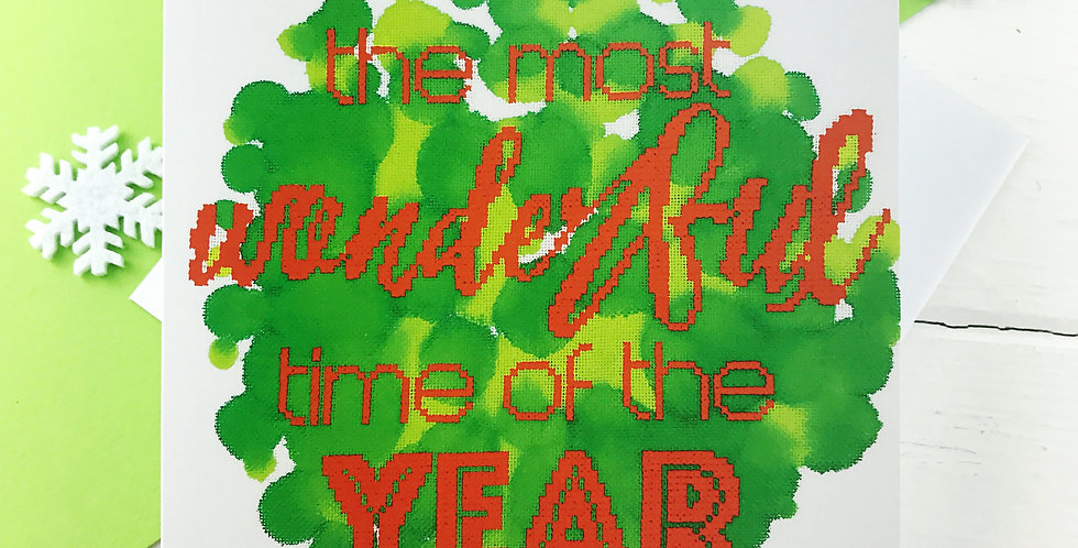 The Most Wonderful Time of the Year - Photographic Christmas Card