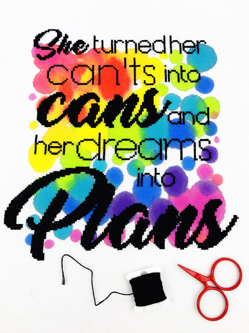 Cants cans dreams plans modern cross stitch kit modern cross she turned her cants into cans and her dreams into plans one of my absolute favourite quotes and daily inspiration for me stitch this one up for yourself solutioingenieria Gallery