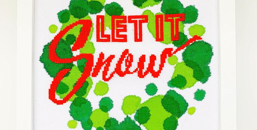 Let it Snow - Modern Christmas Cross Stitch Kit