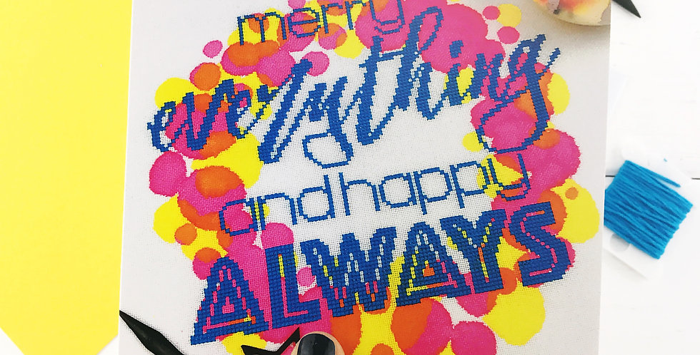 Merry Everything and Happy Always - Photographic Christmas Card
