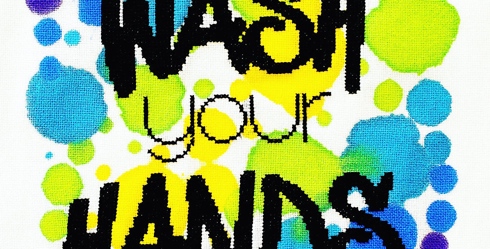 Wash your Hands - Modern Cross Stitch Kit