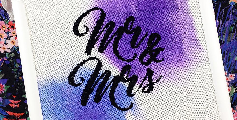 'Mr & Mrs' Modern Cross Stitch Kit