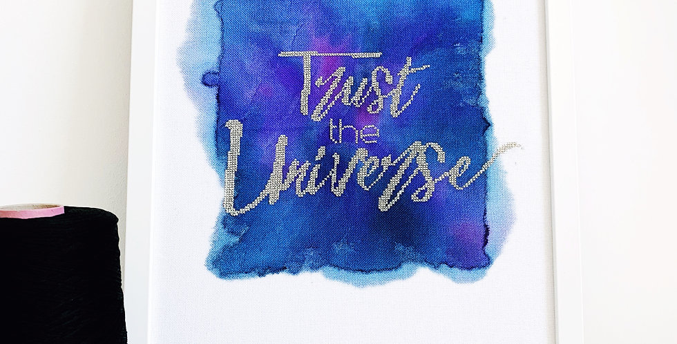 Trust The Universe - Limited Edition Modern Cross Stitch Kit