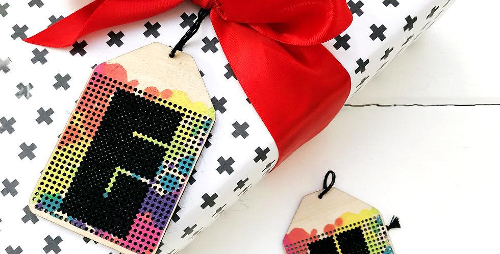 Stitchsperation Rainbow Tag - DIY Stitchable Gift Tag