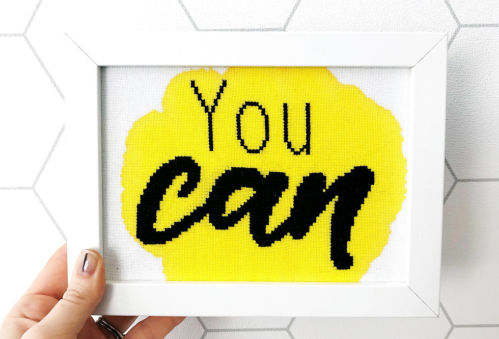 You Can - Mini Modern Cross Stitch Kit