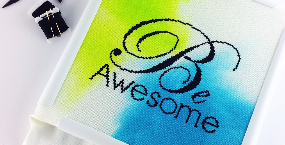 Be Awesome - Modern Cross Stitch Kit