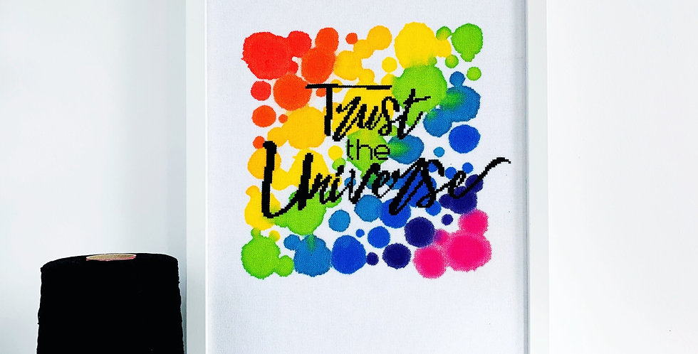 Trust The Universe - Modern Cross Stitch Kit