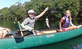 Fishing on West Harbor Pond