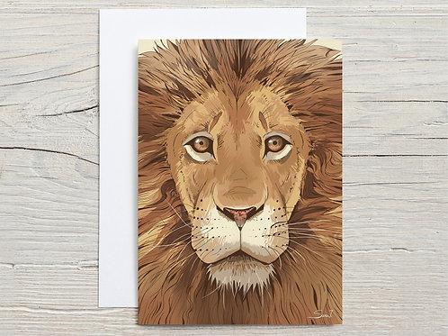 Greeting Card, 'Lion'
