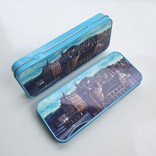 Metal Tin Pencil Case, 'North Bridge'