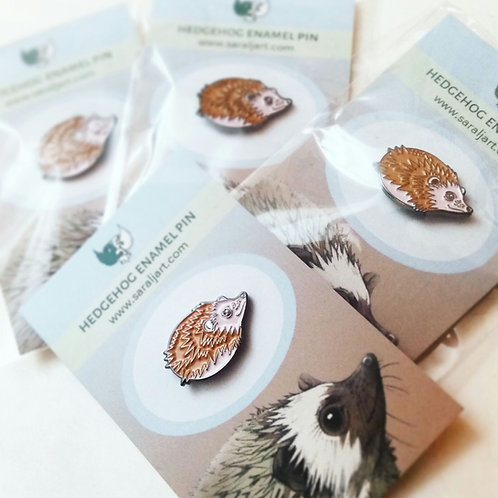 Enamel Pin, Hedgehog