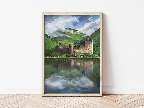 Print, 'Kilchurn Castle'