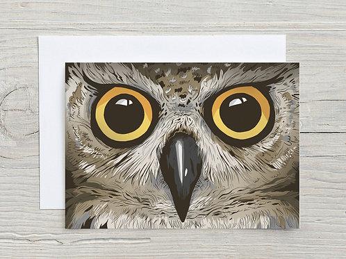 Greeting Card, 'Owl'