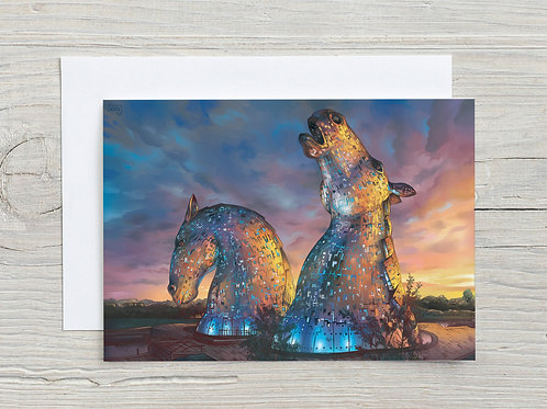 Greeting Card, 'The Kelpies'