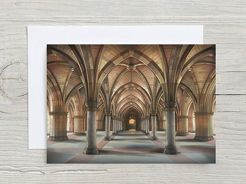 Greeting Card, 'University of Glasgow Cloisters'