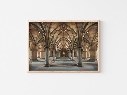 Print, 'University of Glasgow Cloisters'