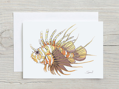 Greeting Card, 'Lionfish'