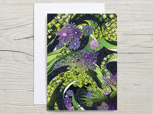 Greeting Card, 'Flower Pattern'