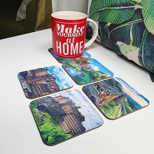 Set of 4 Edinburgh Coasters